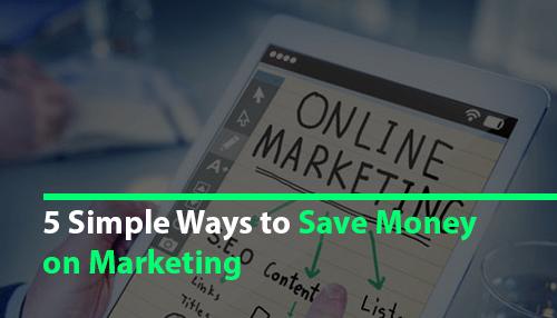 save money on marketing