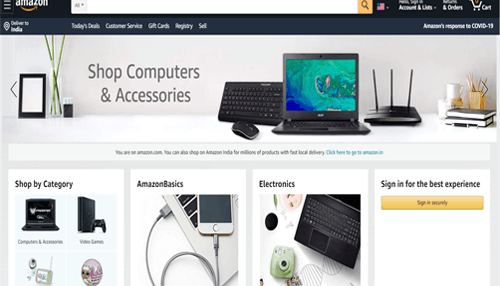 Amazon USA Online Shopping Website