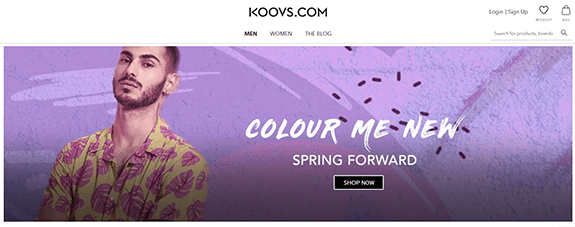 Koovs is the best online shopping site in india for clothes
