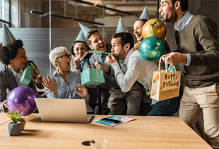 Celebrate employee birthdays