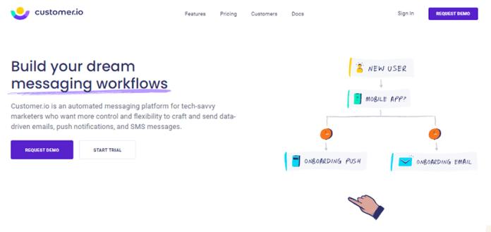 Customer.io marketing automation software