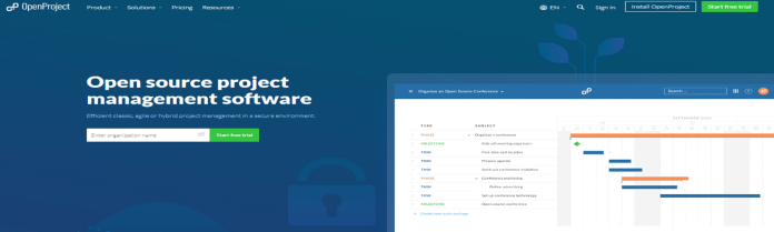 OpenProject project management software