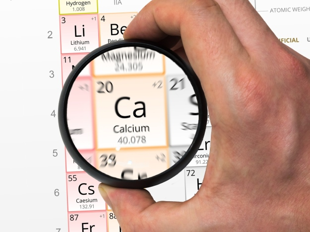 Periodic table showing calcium   Calcium Benefits: Alkaline Water is a Great Resource!   Calcium symbol - Ca. Element of the periodic table zoomed with m