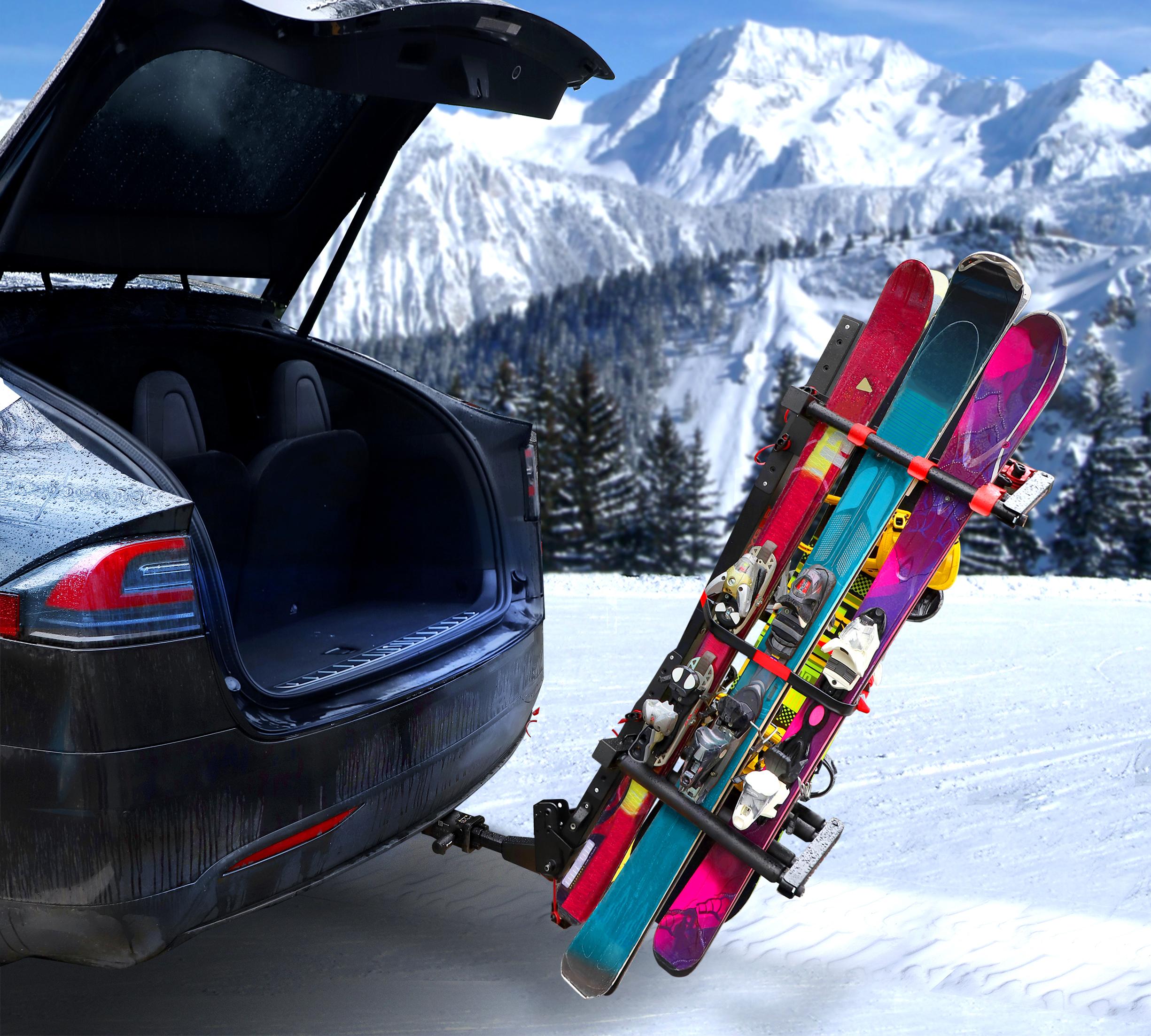 tyger hitch mounted ski rack