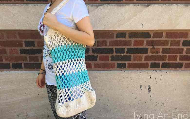 Nami Crochet Tote Bag - side