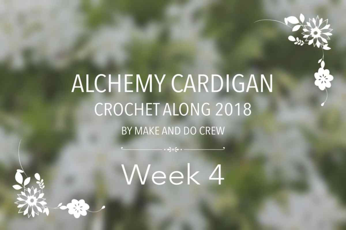 Alchemy Cardigan CAL by Make and Do Crew - week 4 - Tying ... - photo#15