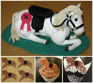 horse collage