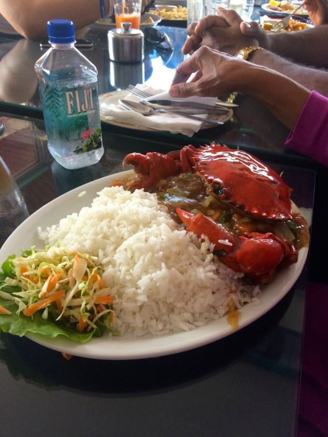 Crab Dish in Nadi, Fiji