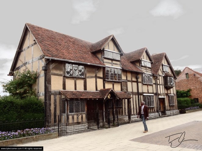 Shakespeare Residence in Stratford-Upon-Avon in the Cotswolds, England