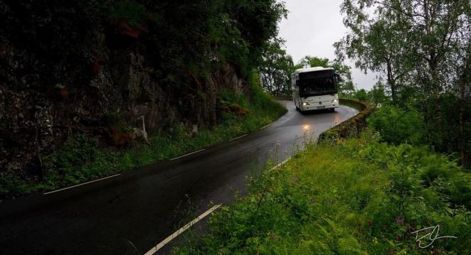 Norwegian bus steep grade