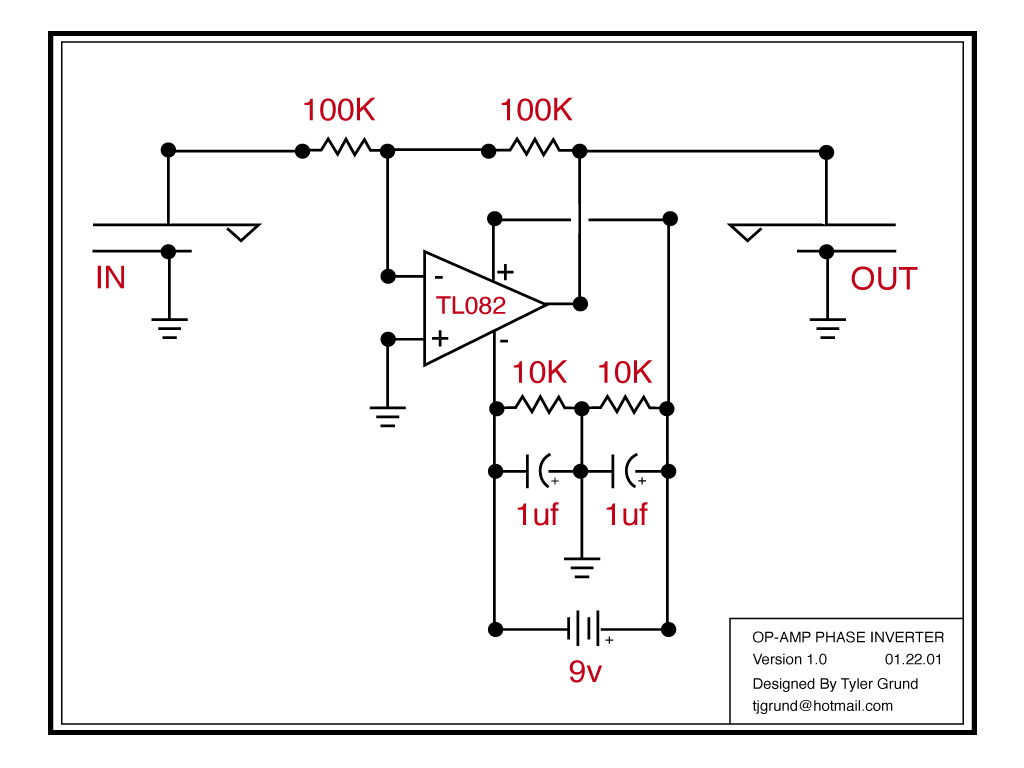 Inverting Guitar Phase With An Op Amp