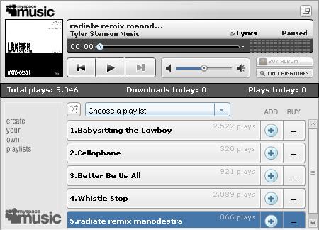Successful Music Profiles on mySpace | Tyler Stenson