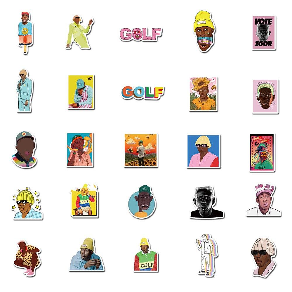 50PCS Rapper Singer Tyler The Creator Stickers