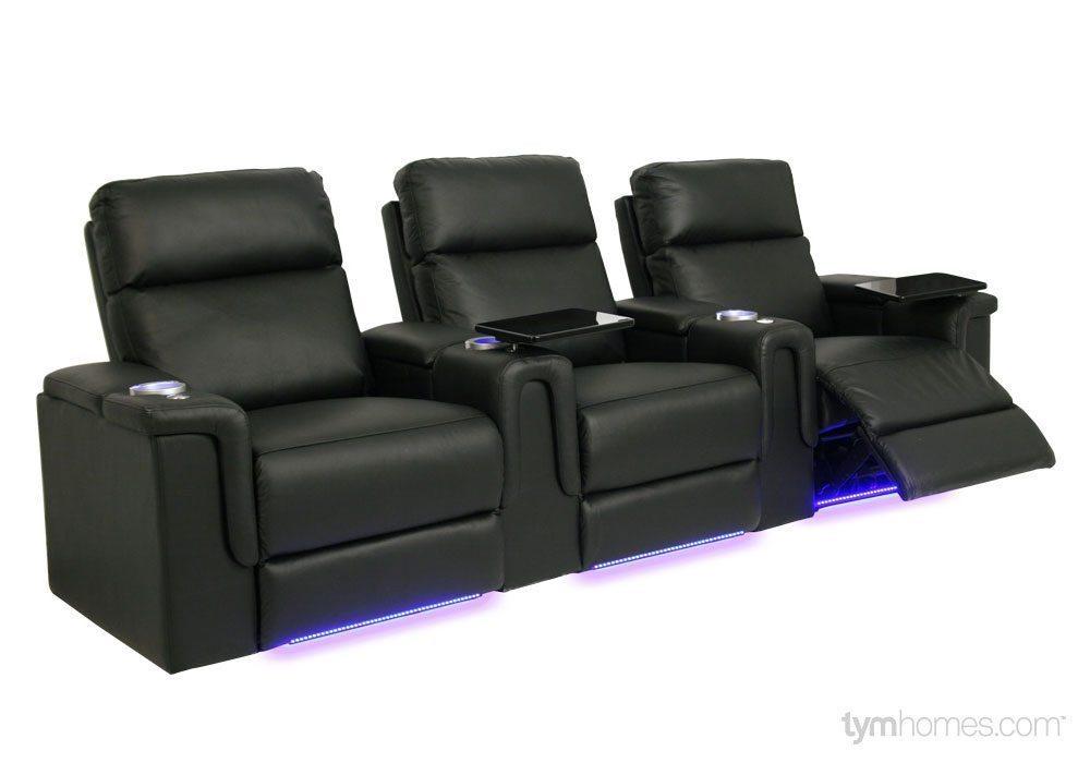 Seatcraft Home Theater Seating, Salt Lake City, Utah  |  Seatcraft 'Palamino' black