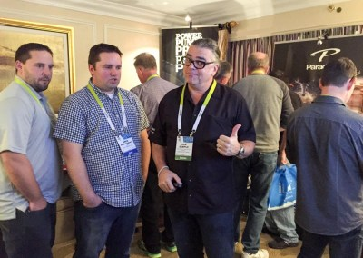 CES 2015 | TYM team members with Rob Sample, Paradigm Suite at the Venetian