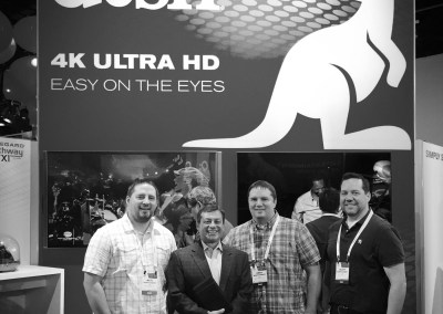 CES 2015 | TYM team members with Frank DeFilippis, Dish Network