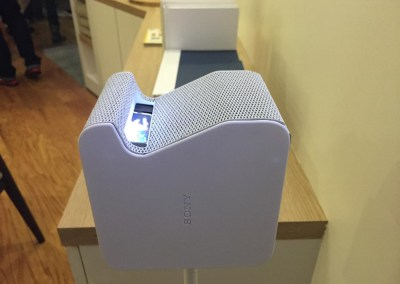 CES 2015 | Sony Life Space UX - Ultra Short Throw Mini Projector - It's much tiny than it looks!