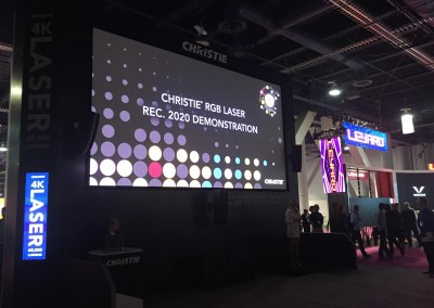 2015 NAB Show #NABshow | Christie Digital booth, RGB Laser Projection