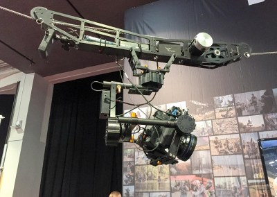 2015 NAB Show #NABshow | DEFY booth with Dactylcam cable-cam rig