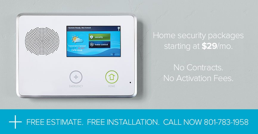 2GIG Home Security $29/mo. No Contracts. No Activation Fees. Salt Lake City, UT