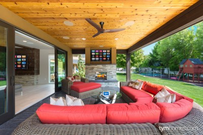 Boise home remodel   Paradigm in-ceiling speakers for patio surround sound and home audio   Boise, Idaho