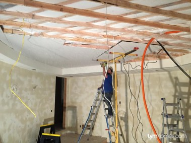 Installing each of the 1,000 fibers for the Fiber Optic Star Ceiling, Salt Lake City, Utah