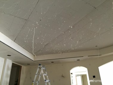 Installing each of the 1,000 fibers for the Fiber Optic Star Ceiling, Salt Lake City, Utah