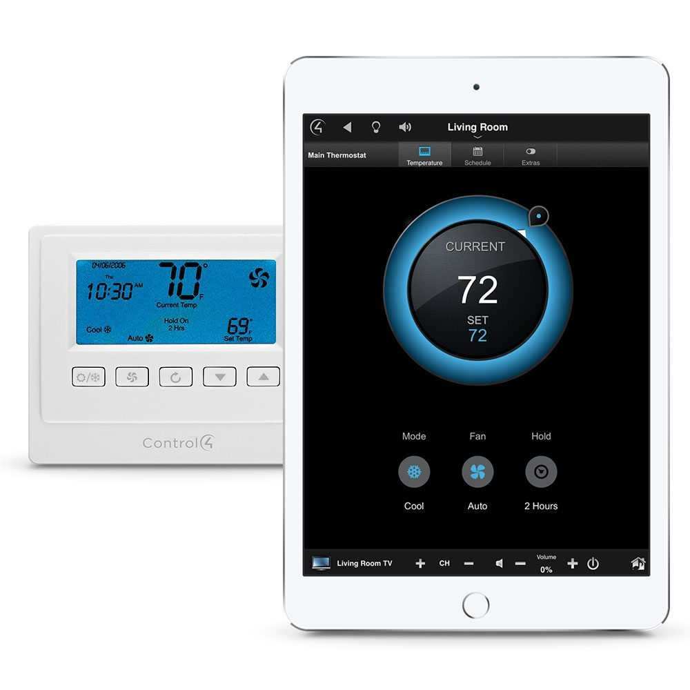 Control4 smart thermostat with iOS app