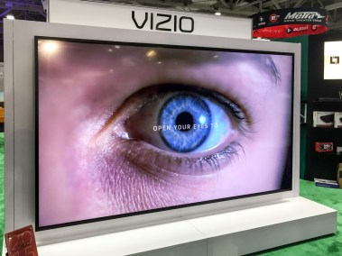 "Vizio 120"" 4K Ultra HD reference series TV with Dolby Vision, High Dynamic Range-enabled, CEDIA 2015 
