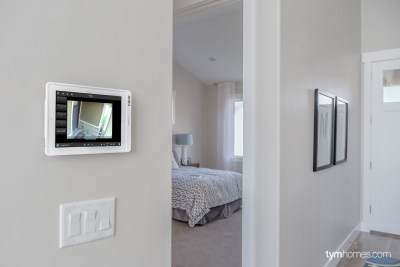 Control4 home automation with front porch surveillance camera, Candlelight Homes, Utah Valley Parade of Homes