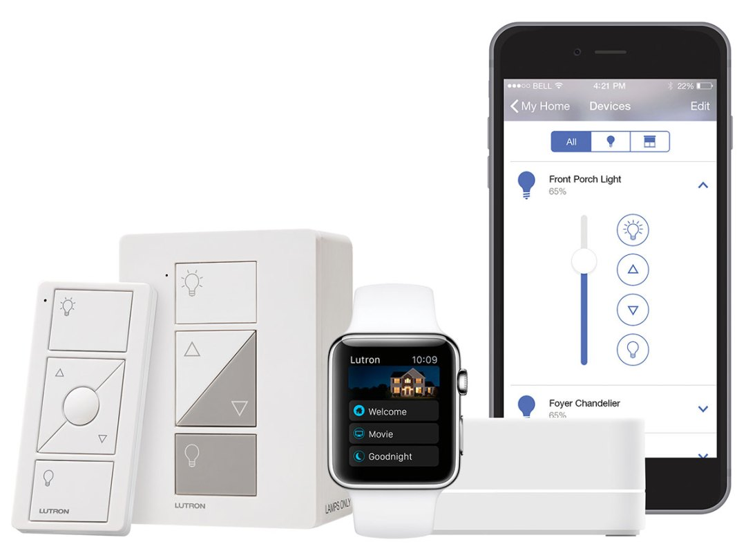 Lutron Caséta, smart lighting system with iPhone and Apple Watch