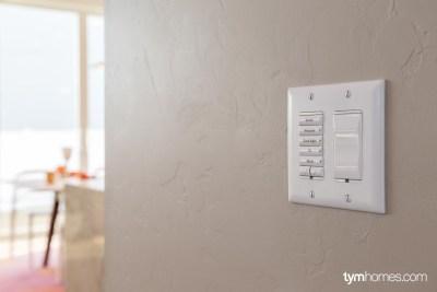 Control4 keypad and  smart light switch, Candlelight Homes, Salt Lake City, Utah
