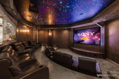 Sony 4K Ultra HD Home theater projector, Fiber Optic Star Ceiling, Dolby Atmos 7.2.4 surround sound, Salt Lake City, Utah