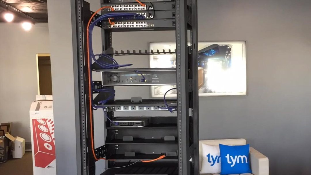 TYM Homes Media Rack Cable Management