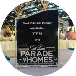 Most Valuable Partner 2015 Salt Lake Parade of Homes