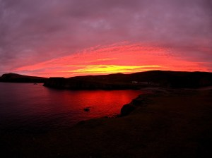 fair-isle-sunset