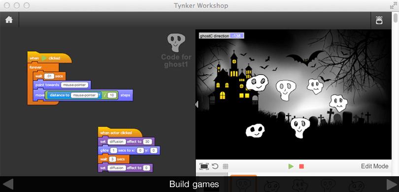 Using Tynker blocks to create games