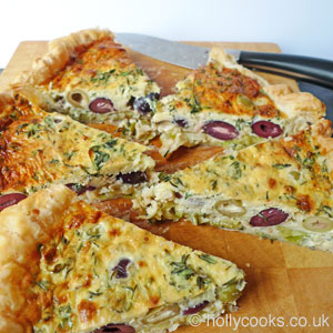 Olive and parmesan tart recipe