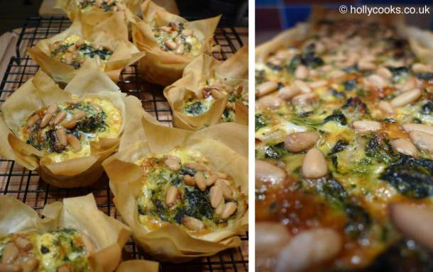 Holly-cooks-spinach-feta-and-pine-nut-tart-and-tartlets-800