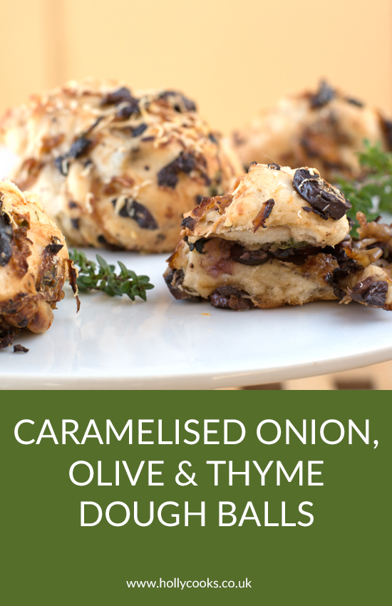 Holly-cooks-caramelised-onions-olives-and-thyme-dough-balls