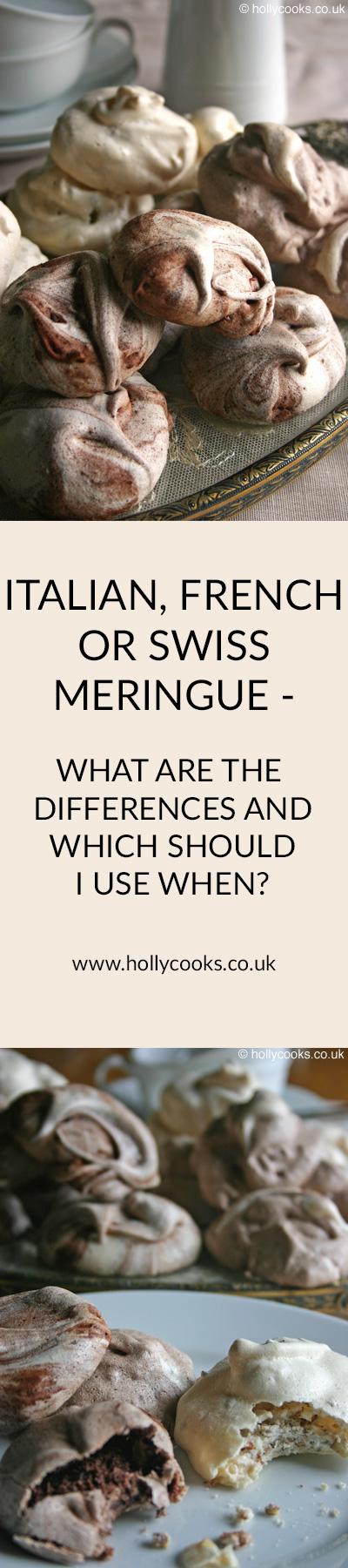 Italian, French or Swiss meringue