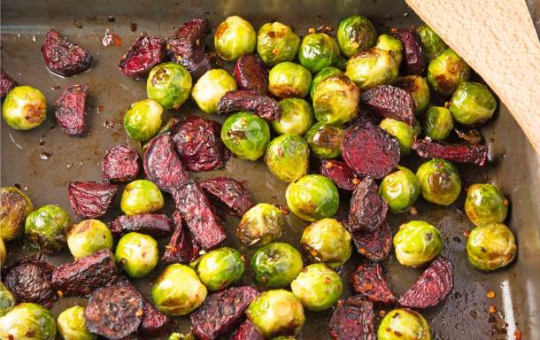 holly-cooks-roasted-brussel-sprouts-with-beetroot-chilli-and-honey-1270-landscape-detail