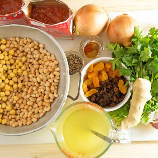 spicy vegetarian cassoulet couscous