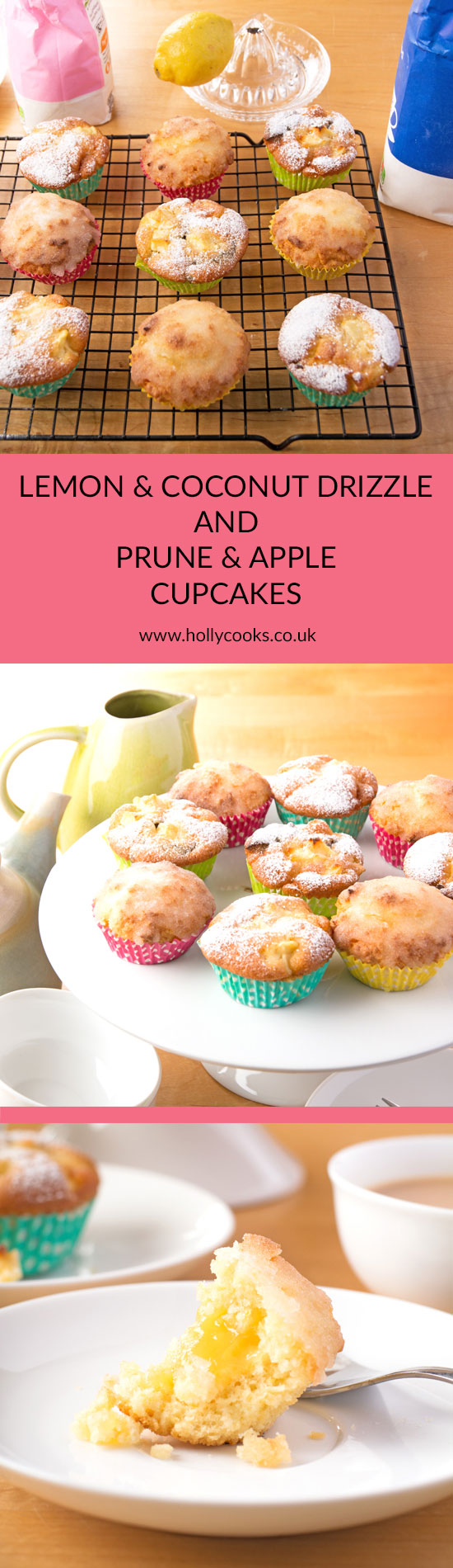 Holly-cooks-coconut-and-lemon-drizzle-and-apple-and-prune-cupcakes-pinterest