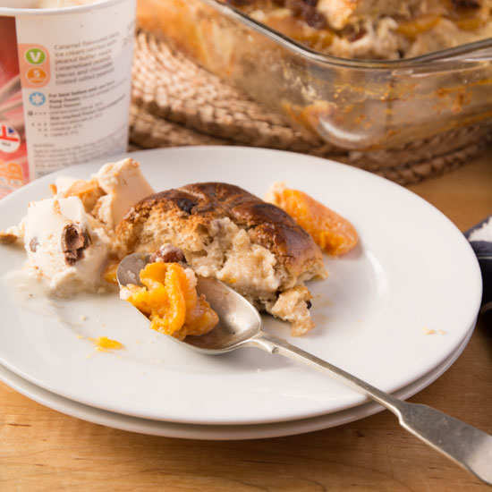 Holly-Cooks-Apricot-and-hot-cross-bun-bread-and-butter-pudding-with-ice-cream550