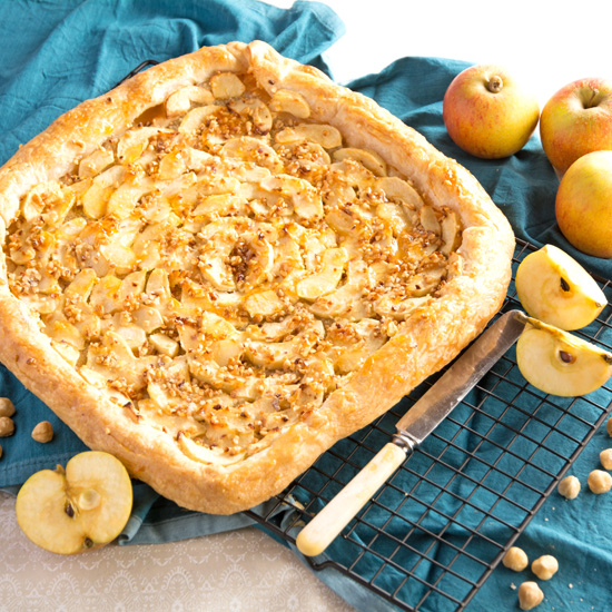 Holly-cooks-Apple-tart-with-marzipan-perfect-for-Easter-on-cooling-rack