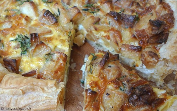 roast parsnip tart