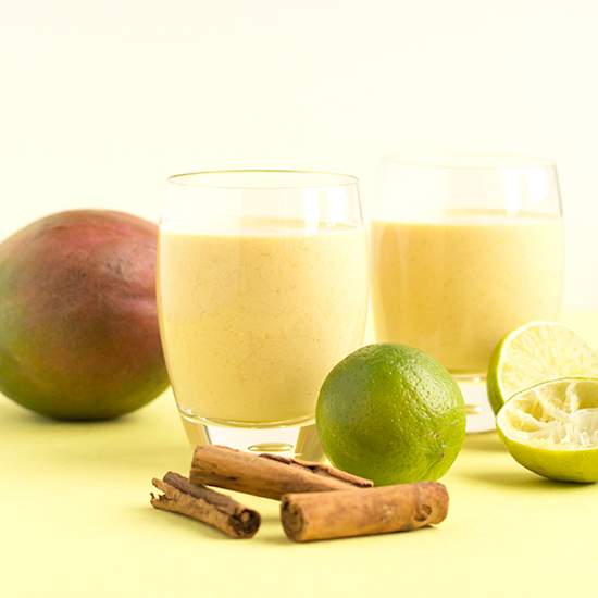 Mango and lime lassi