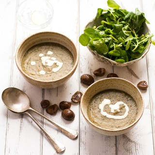 Chestnut and watercress soup – less than 20 mins & super healthy