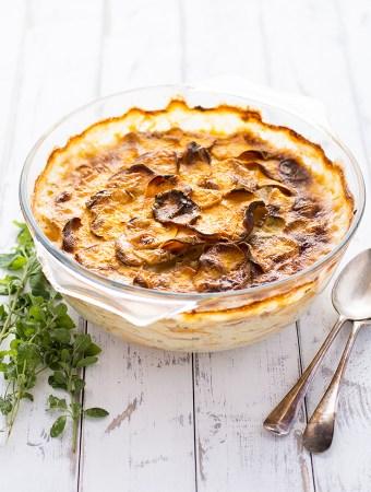 Sweet potato and potato dauphinois
